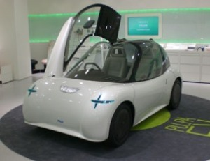 Advanced plastics used in PU PA concept electric car.